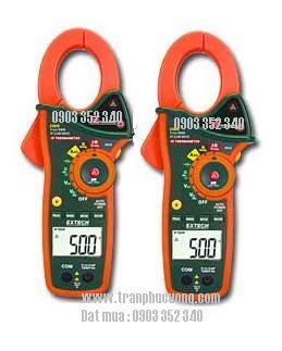 Ampe kìm, Ampe kế đo dòng điện 1 chiều AC 1000A/ EX820-1000A True RMS AC Clamp Meter with IR Thermometer (HSX: EXTECH-USA)