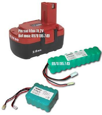 Pin sạc khối 19.2V với các size 1/2AA,2/3AA,AA,AAA,4/5A, 7/5A,SC,C,D với nhiều dung lượng từ 250mAh cho đến 10 000 mAh