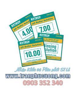 Dung dịch thuốc thử pH - Tripak Buffer Pouches (4, 7 and 10pH plus rinse solution) chính hãng Extech USA | hàng có sẳn
