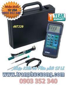 Máy đo pH/mV/Temperature - Extech 407228 Heavy Duty pH/mV/Temperature Meter Kit  chính hãng Extech USA | tạm hết hàng - Đặt hàng