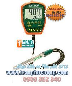 Máy đo pH- Extech pH220C Waterproof Palm pH Meter with Temperature chính hãng Extech USA | có sẳn hàng