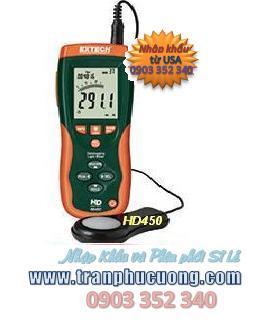 Máy đo ánh sáng Extech HD450 Datalogging Heavy Duty Light Meter (HSX: EXTECH-USA)/ tạm hết hàng