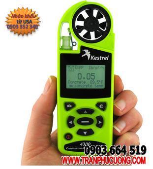 Máy đo vi khí hậu và quan trắc thời tiết Kestrel 4300 Construction Weather Tracker[HSX: Kestrel Meter, Nielsen-Kellerman made in USA] / hàng có sẳn