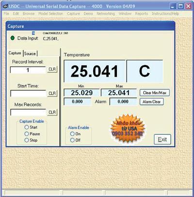 Phụ kiện máy đo ánh sáng - Phần mềm để kết nối các thiết bị Control Computer Data Acquisition System w/ USB Cable