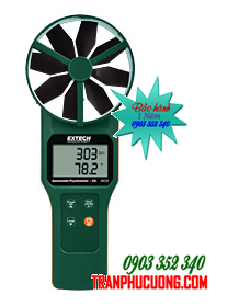 Phong kế đo Tốc độ gió - Lưu lượng khí - Độ ẩm - CO2 Extech AN320 Large Vane CFM/CMM Anemometer/Psychrometer plus CO2  chính hãng Extech USA | Đặt hàng
