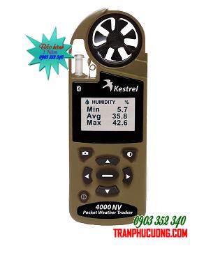 Máy đo vi khí hậu Kestrel 4000NV Weather Meter - Olive Night Vision [HSX:Nielsen-Kellerman - USA] | Đặt [HSX: Kestrel Meter, Nielsen-Kellerman made in USA] / Đặt hàng