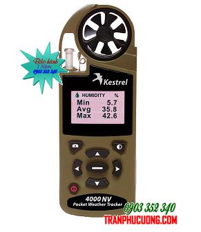 Máy đo vi khí hậu Kestrel 4000NV - Tan Olive Night Vision [HSX: Kestrel Meter, Nielsen-Kellerman made in USA] / Đặt hàng