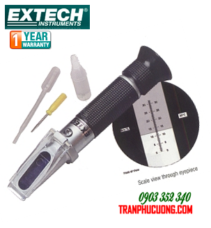 Máy đo nồng độ Chất lỏng công nghiệp và  Độ Ngọt (Đường) trong nước Trái cây - Extech RF15 Portable Sucrose Brix Refractometer (0 to 32%) with ATC/hàng có sẳn
