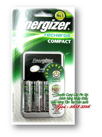 Máy sạc pin AA,AAA,9V Energizer CHCC kèm sẳn 4 pin Energizer AAA700mAh chính hãng | Bảo hành 1 năm| hàng có sẳn