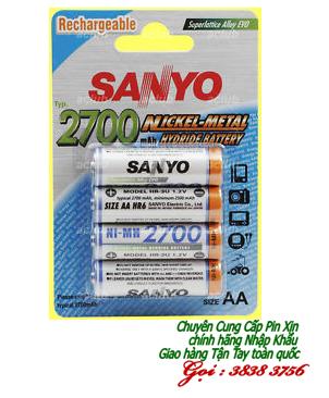 Pin sạc AA Sanyo HR-3U-4BP | 2700mAh-1.2V| chính hãng | hàng có sẳn