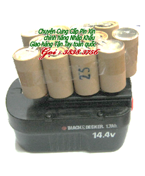 Pin máy khoan cầm tay Back & Decker 14,4V-SC1700mAh chính hãng  | Hàng có sẳn
