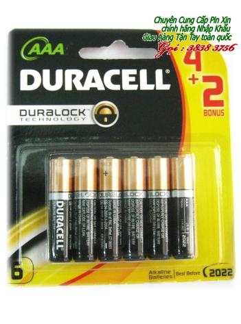Pin AAA Duracell MN2400-LR03 Duralock alkaline 1,5V chính hãng |Vỉ 6 viên-TẠM HẾT HÀNG