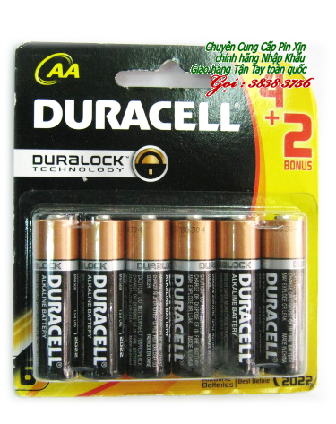 Pin AA Duracell MN1500-LR03 Duralock Tecknology Alkaline 1,5V chính hãng | vỉ 6 VIÊN-TẠM HẾT HÀNG