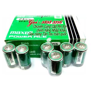 Pin đại D Maxell R20P/2S Super Power ACE chính hãng | Còn hàng - Hộp 24 viên
