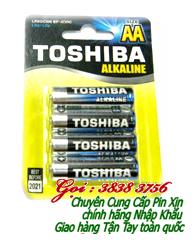 Pin AA 1,5V Toshiba LR6GCN_BP4 Alkaline chính hãng | Còn hàng-Vỉ 4 viên