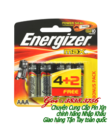 Pin AA 1,5V Energizer E91BP4 (BC4-2) Max Power Seal chính hãng -Made in Singapore (Vỉ 6 viên)
