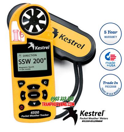 Máy đo vi khí hậu và quan trắc thời tiết Kestrel 4500 Weather Meter  Made in USA | Mẫu cũ hãng bỏ mẫu hết HÀNG - hết sản xuất-sử dụng Kestrel 5500 thay thế