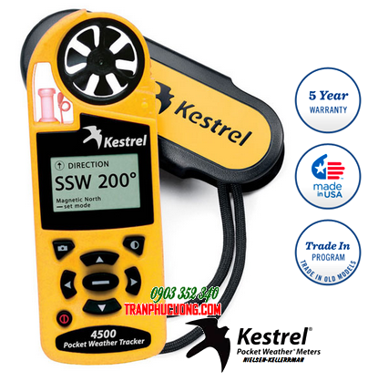 Máy đo vi khí hậu và quan trắc thời tiết Kestrel 4500 Weather Meter Made in USA| Mẫu cũ hãng bỏ mẫu hết HÀNG - hết sản xuất-sử dụng Kestrel 5500 thay thế