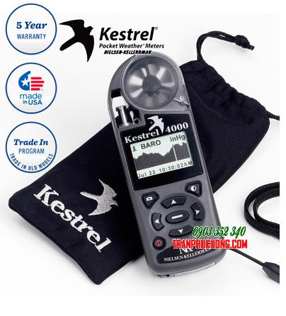 Máy đo vi khí hậu Kestrel 4000 Weather Meter [HSX: Kestrel Meter, Nielsen-Kellerman made in USA] / hàng có sẳn