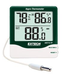 Ẩm kế Extech  445713 Big Digit Indoor/Outdoor Hygro-Thermometer Compact Hygro-Thermometer with Detachable Probe chính hãng Extech USA | Đặt hàng