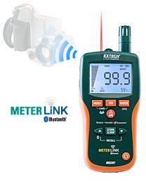 Máy đo độ ẩm Pinless Moisture Psychrometer with IR Thermometer and Bluetooth MeterLink™  chính hãng Extech USA | Đặt hàng