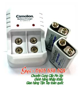 Bộ sạc pin 9V Camelion BC-1020B kèm sẳn 2 pin sạc 9V200mAh  AlwaysReady màu trắng chính hãng |HẾT HÀNG
