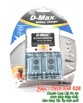 Máy sạc pin AA, AAA, 9V Demax BC-0904B chính hãng | Bảo hành 1 năm