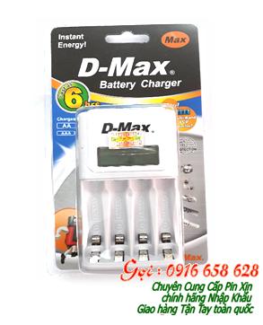 Máy sạc pin AA, AAA có màn hình LCD DMAX BC-1012B, sạc được 2 đến 4 pin AA,AAA của các hãng pin | có sẳn hàng-Bảo hành 1 năm