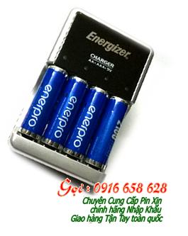 Bộ sạc pin AA Energizer CHCC kèm sẳn 4 pin sạc EnerPro AA2100mAh 1.2v chính hãng| Bảo hành 1 năm