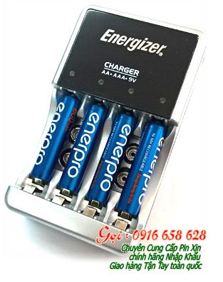Bộ sạc pin AA, AAA Energizer CHCC kèm sẳn 4 pin sạc EnerPro AAA800mAh chính hãng | Bảo hành 1 năm
