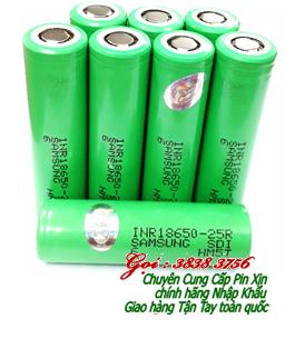Pin sạc 3,7v Samsung INR18650-25R(2500mAh) dòng xả 20A Lithium Li-Ion sạc | CÒN HÀNG