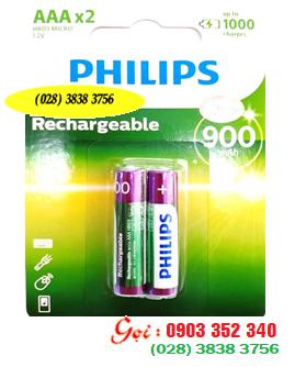 Pin sạc AAA Philips R03B2A80/97 - 800mAh - 1.2V chính hãng Philips | Hàng có sẳn