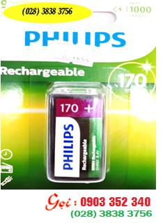 Pin sạc 9V vuông Philips 9VB1A17/97 - 9V170mAh chính hãng Philips | HÀNG CÓ SẲN