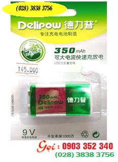 Pin sạc Delipow 9v350mAh; Pin sạc vuông 9v Delipow chính hãng | HÀNG CÓ SẲN