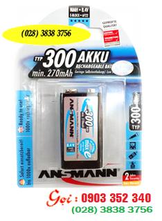 Pin sạc 9V Ansmann MaxE300 Mignon Recharge Battery 1,2V chính hãng | Hàng có sẳn