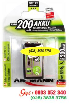Pin sạc 9V Ansmann E 200mAh - 5035342 |9V-200mAh| chính hãng | Hàng có sẳn