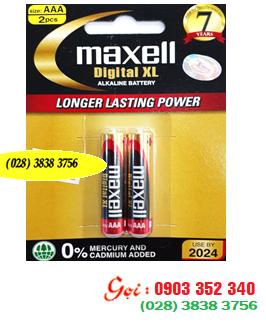 Pin Alkaline AAA 1.5v Maxell LR03(XL)2B; Pin Maxell LR03(XL)2B Alkaline AAA 1.5v Made in INdonesia| CÒN HÀNG