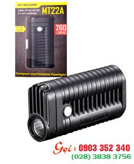 Đèn pin siêu sáng Nitecore MT22A Với 260Lumens chiếu xa 100m bóng Cree XP-G2 S3 - Bảo hành 5 năm