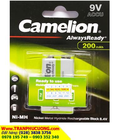 Camelion NH-9V200ARBP1; Pin sạc 9V Camelion NH-9V200ARBP1 - 200mAh chính hãng | hàng có sẳn