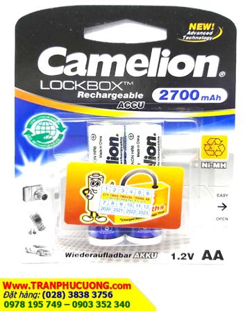 Pin sạc AA Camelion NH-AA2700LBP2 New Technology LockBox AA2700mAh 1.2V/ hàng có sẳn
