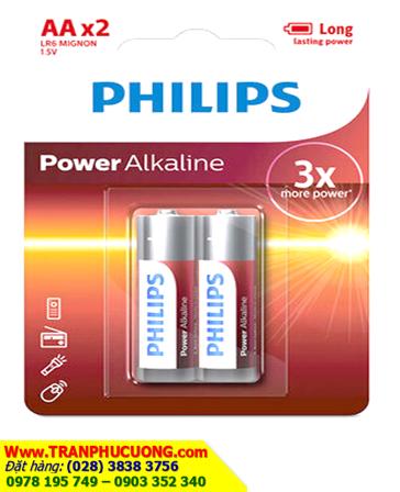 Pin tiểu AA 1.5v Philips LR6 Mignon Alkaline chính hãng Made in China| ĐANG CÒN HÀNG