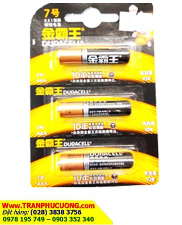 Pin AAA 1.5v Duracell MM2400-BP3 Alkaline chính hãng(phiên bản đặc biệt NỘI ĐỊA Vỉ 3 viên) | CÒN HÀNG