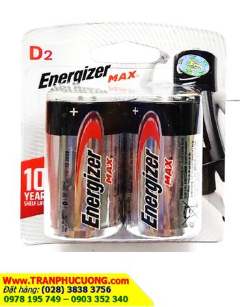 Pin đại 1,5V Energizer E95BP2 Max Power Alkaline chính hãng - Made in USA | còn hàng