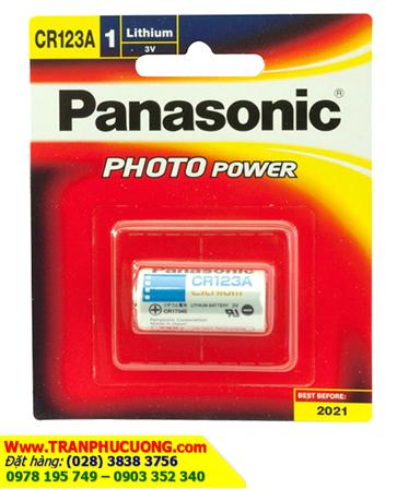Pin CR123A, CR17345; Pin Panasonic CR123A, CR17345 Photo Lithium 3V_Vỉ 1viên