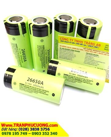Pin sạc 3.7v Lithium 26650A 5000mAh _Pin sạc26650 lithium 3.7v 5000mAh (26mmx65mm) | CÒN HÀNG