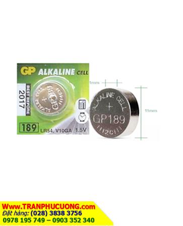 Pin cúc áo 1,5V GP 189 - LR1130 alkaline chính hãng GP   HÀNG CÓ SẲN