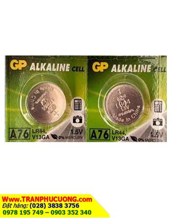 Pin cúc áo 1,5V GP A76-LR44 alkaline chính hãng GP   hàng có sẳn