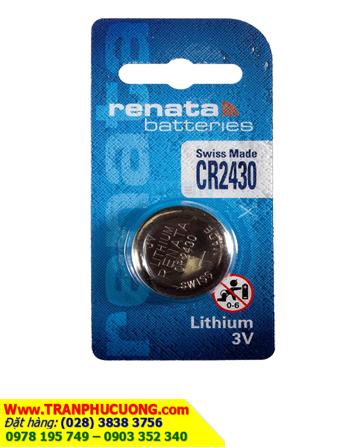 Pin CR2430 _Pin Renata CR2430; Pin 3v lithium Renata CR2430 Xuất xứ Thụy Sỹ _Vỉ 1viên | HÀNG CÓ SẲN