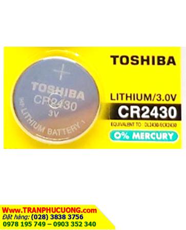 Pin CR2430 _Pin Toshiba CR2430; Pin 3v lithium Toshiba CR2430 chính hãng _1viên