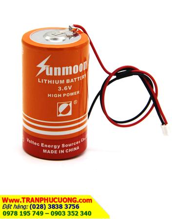 Pin Sunmoon ER34615M (có zắc cắm) ; Pin nuôi nguồn Sunmoon ER34615M lithium 3.6v D 13500mAh chính hãng